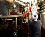 Dampfschiff Maschinenraum